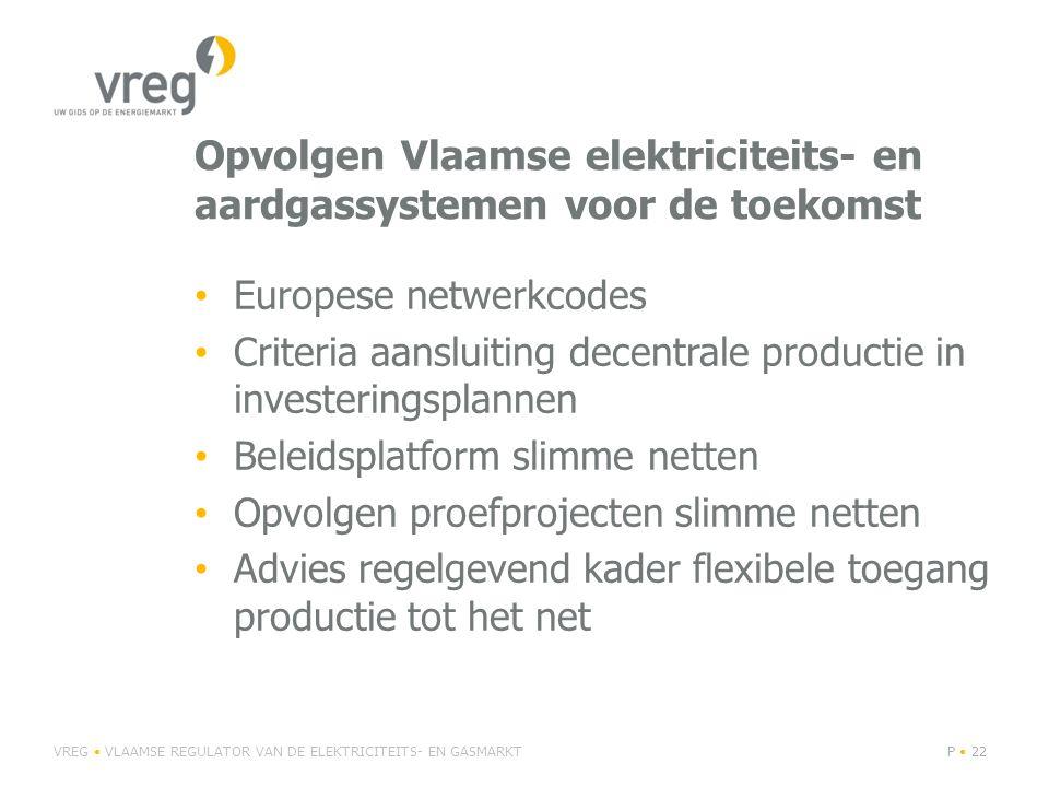 Opvolgen Vlaamse elektriciteits- en aardgassystemen voor de toekomst