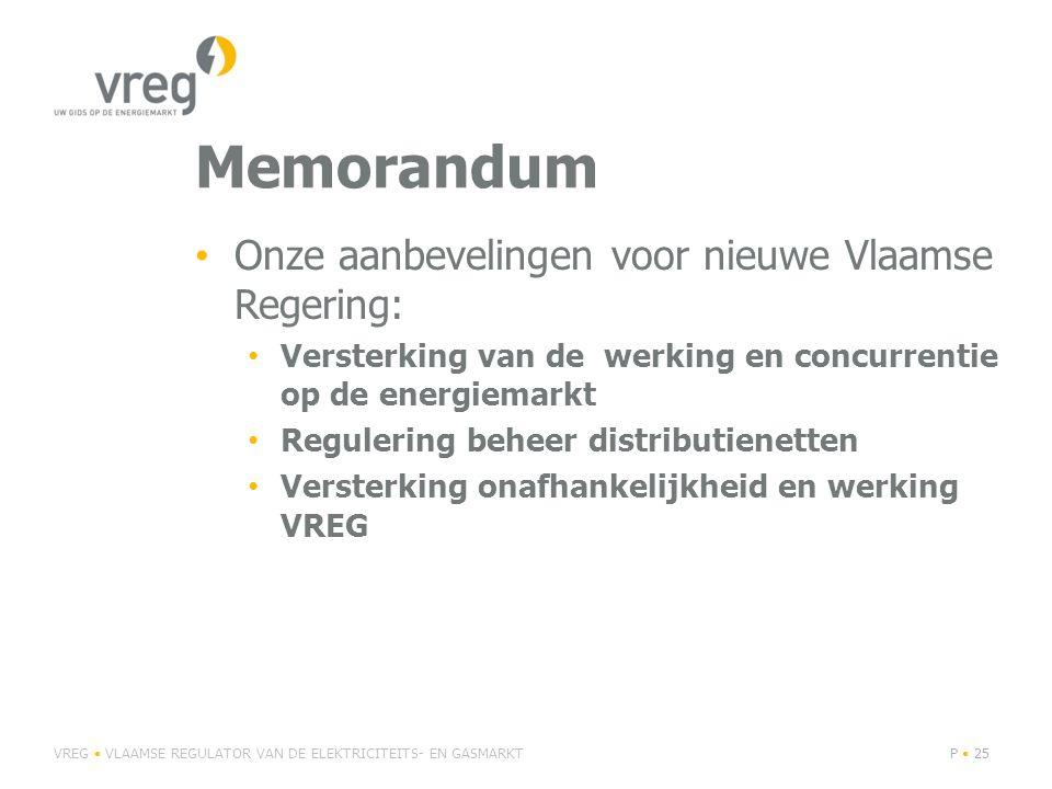 Memorandum Onze aanbevelingen voor nieuwe Vlaamse Regering: