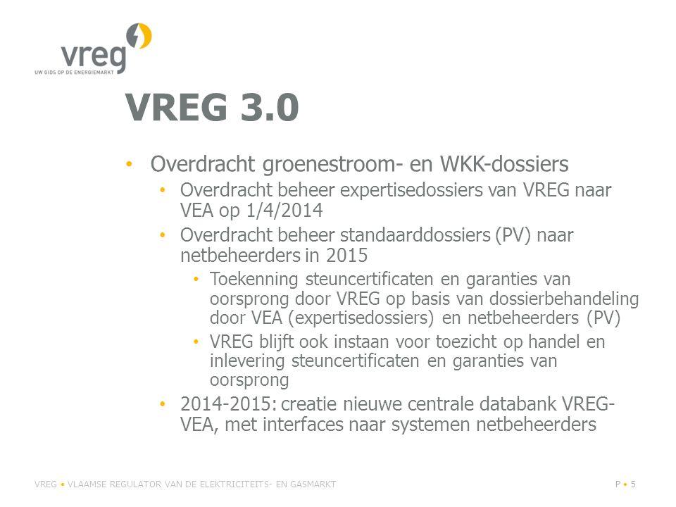 VREG 3.0 Overdracht groenestroom- en WKK-dossiers