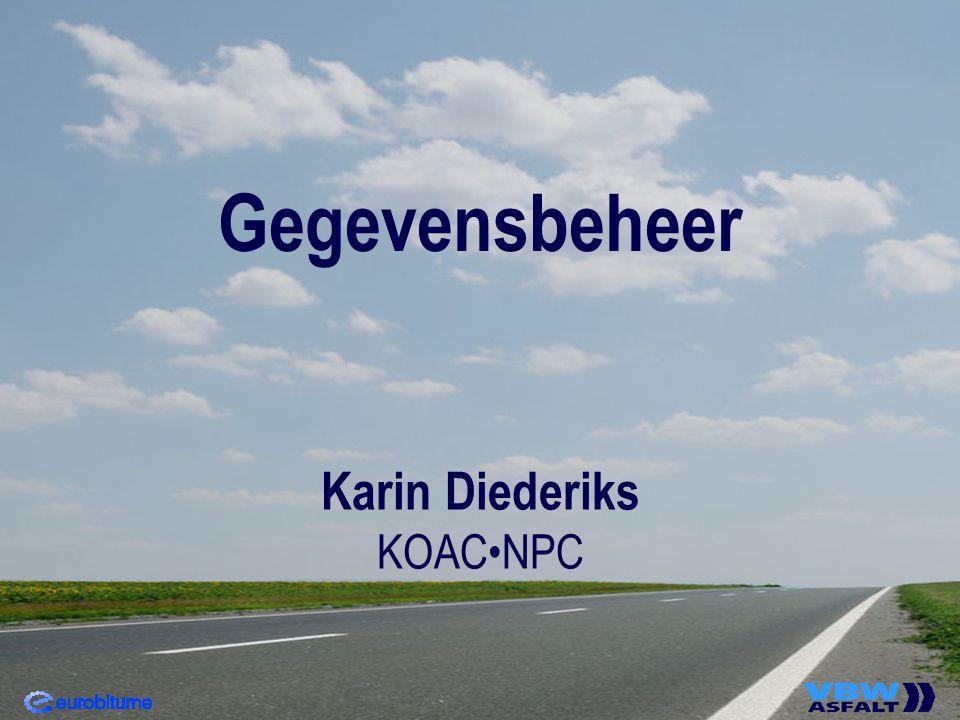 Gegevensbeheer Karin Diederiks KOAC•NPC