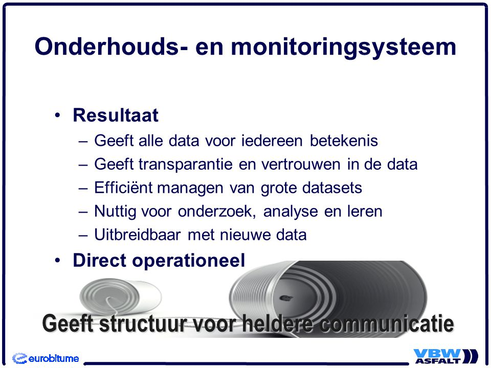Onderhouds- en monitoringsysteem