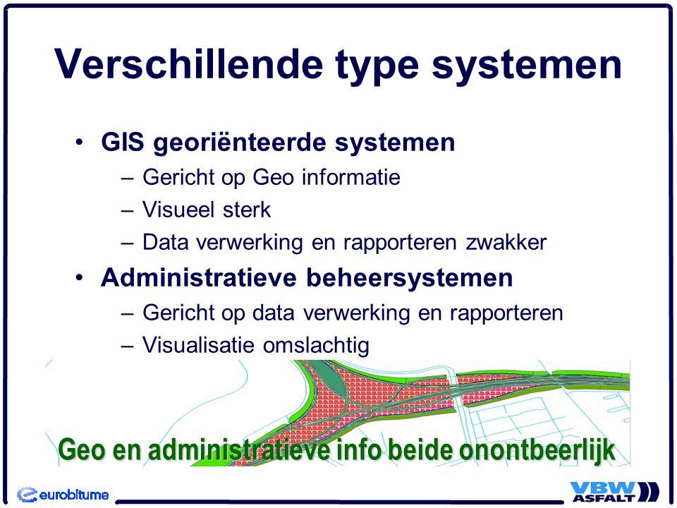 Verschillende type systemen