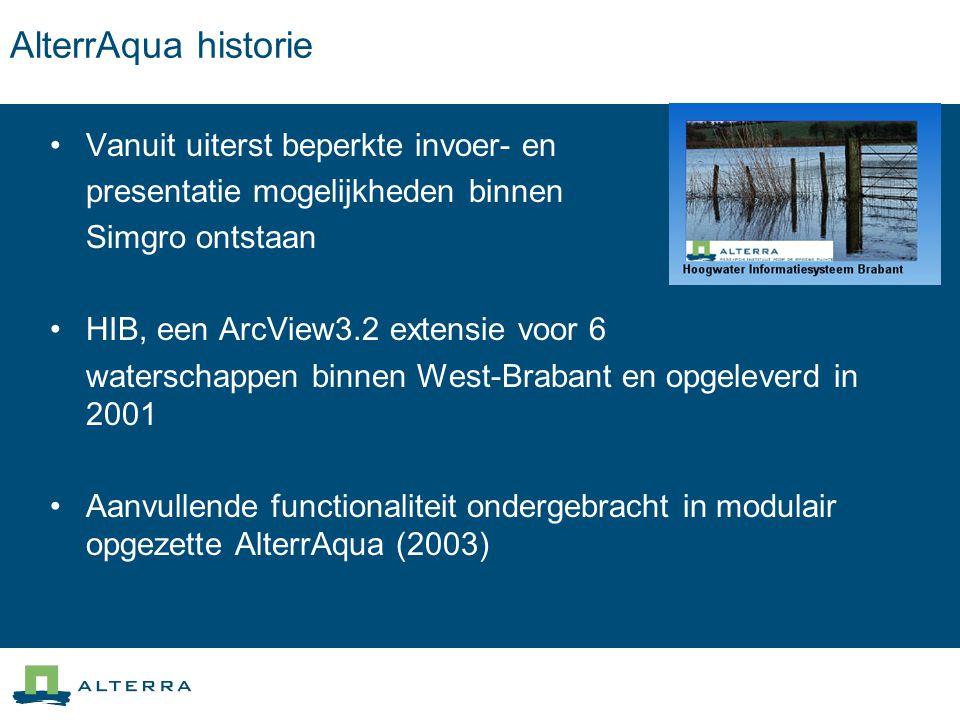 AlterrAqua historie Vanuit uiterst beperkte invoer- en