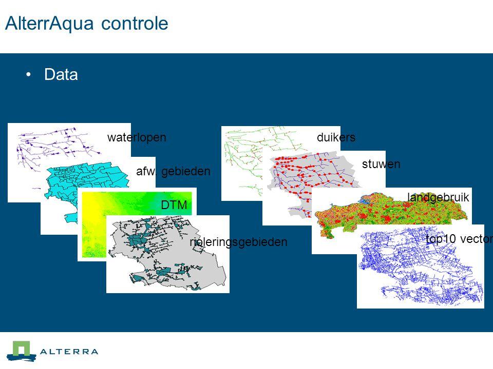AlterrAqua controle Data waterlopen afw. gebieden DTM