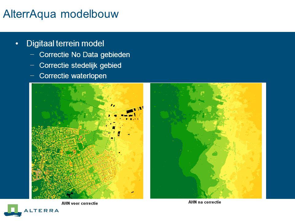 AlterrAqua modelbouw Digitaal terrein model Correctie No Data gebieden