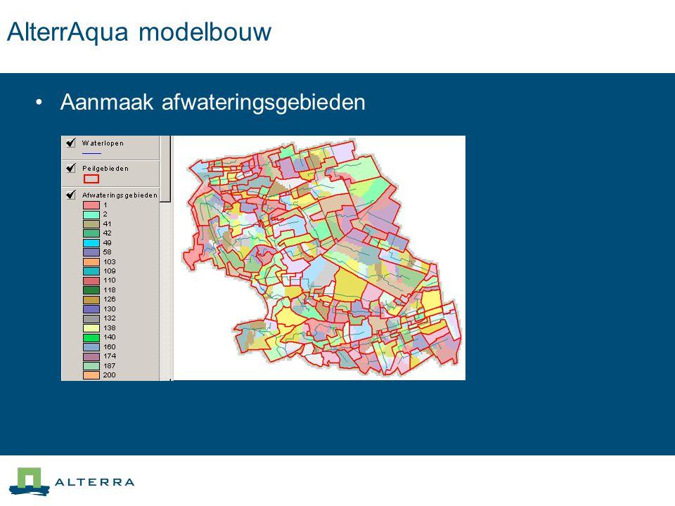 AlterrAqua modelbouw Aanmaak afwateringsgebieden