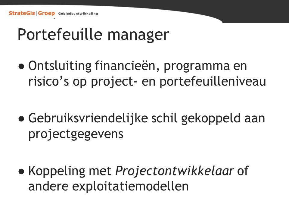 Portefeuille manager Ontsluiting financieën, programma en risico's op project- en portefeuilleniveau.