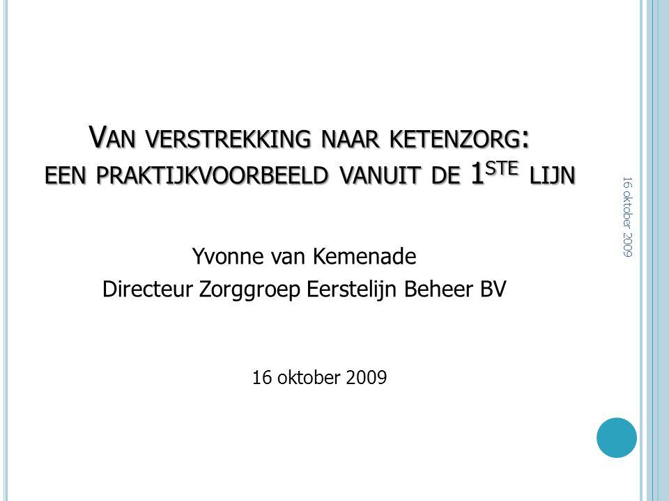Directeur Zorggroep Eerstelijn Beheer BV