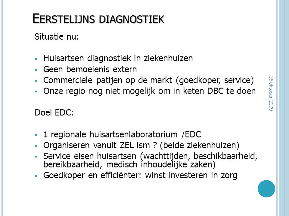Eerstelijns diagnostiek