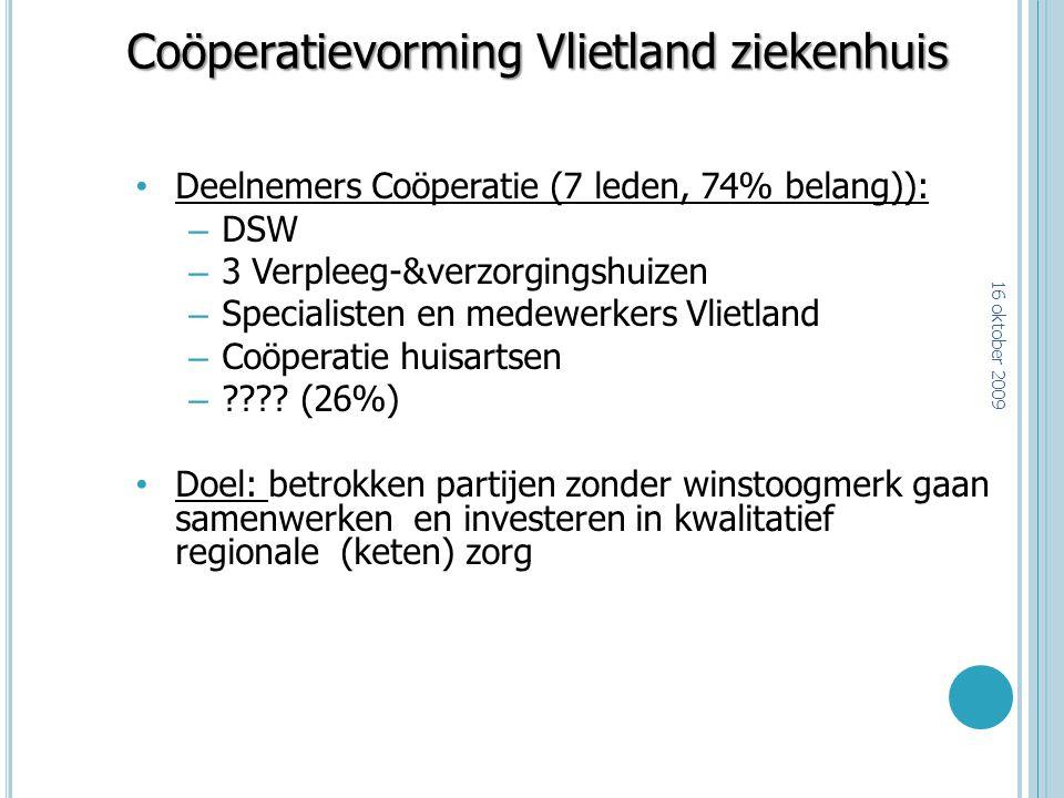 Coöperatievorming Vlietland ziekenhuis