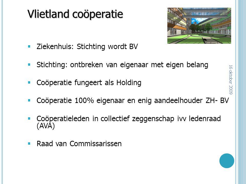 Vlietland coöperatie Ziekenhuis: Stichting wordt BV
