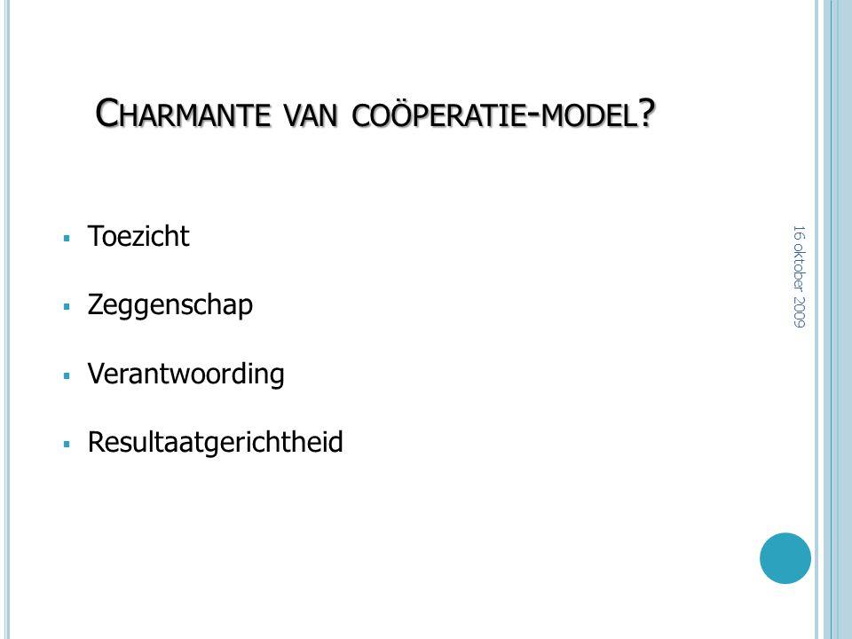 Charmante van coöperatie-model