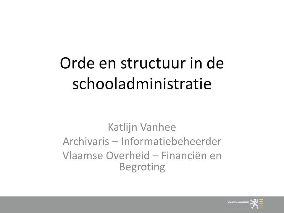 Orde en structuur in de schooladministratie