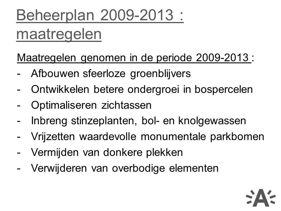 Beheerplan 2009-2013 : maatregelen