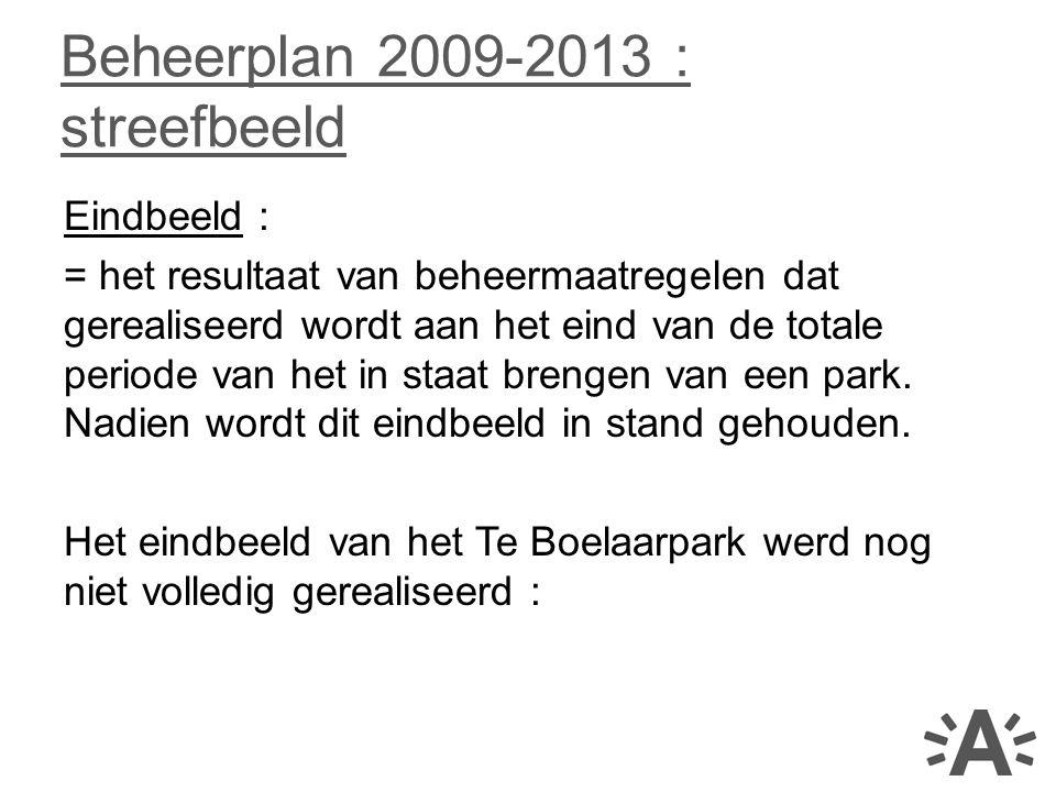 Beheerplan 2009-2013 : streefbeeld