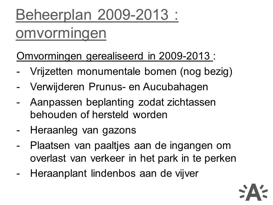 Beheerplan 2009-2013 : omvormingen
