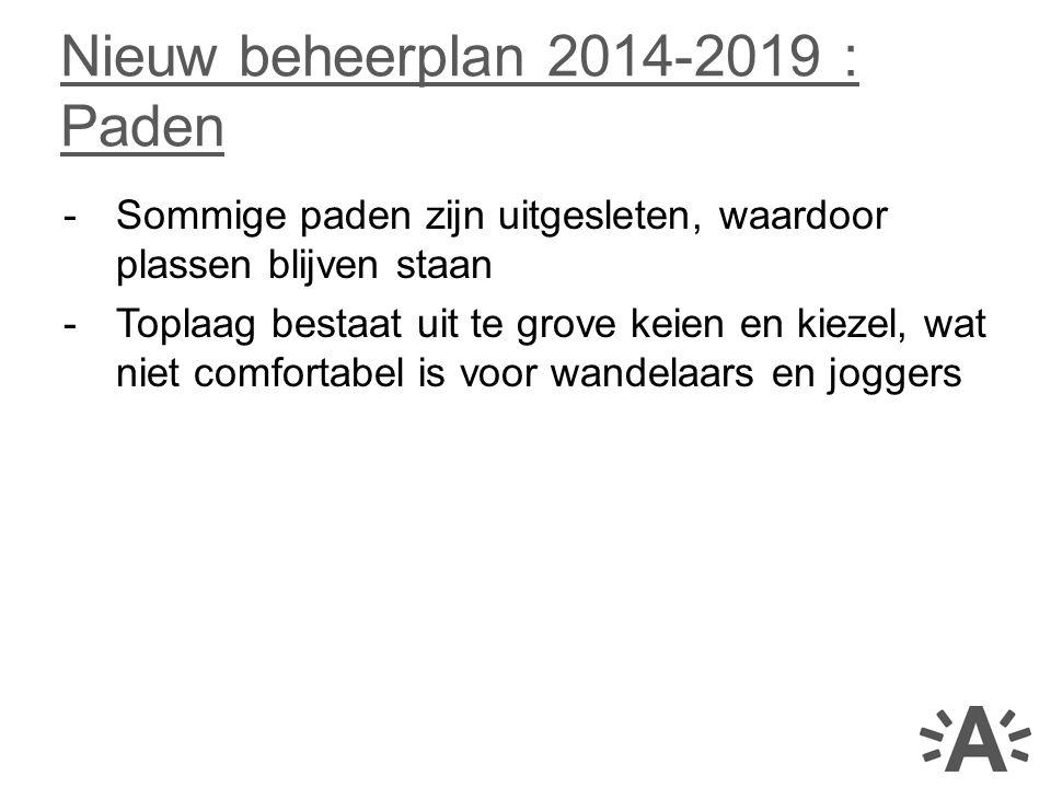 Nieuw beheerplan 2014-2019 : Paden