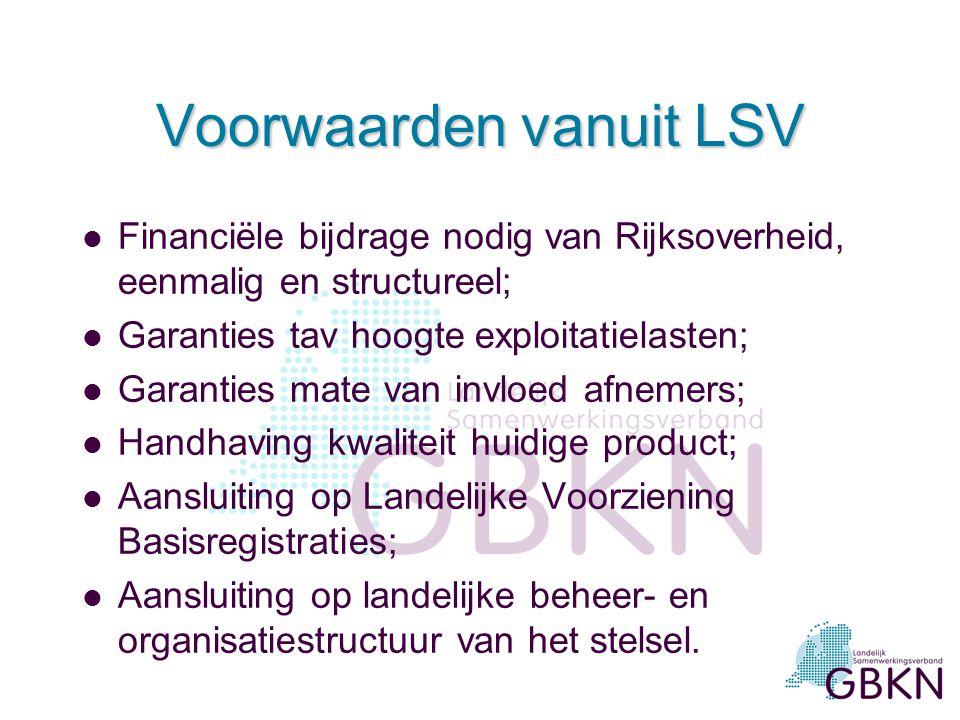 Voorwaarden vanuit LSV