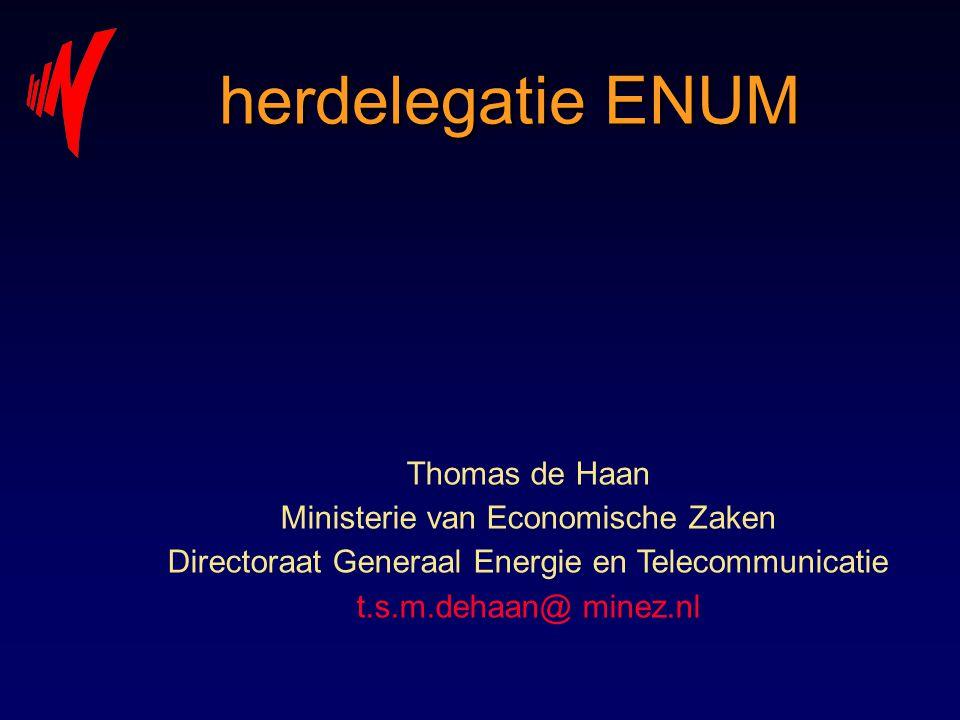 herdelegatie ENUM Thomas de Haan Ministerie van Economische Zaken