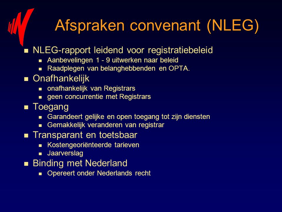 Afspraken convenant (NLEG)