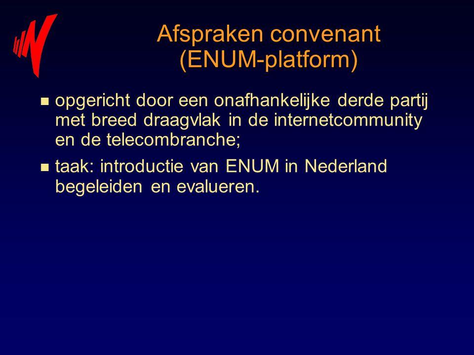 Afspraken convenant (ENUM-platform)