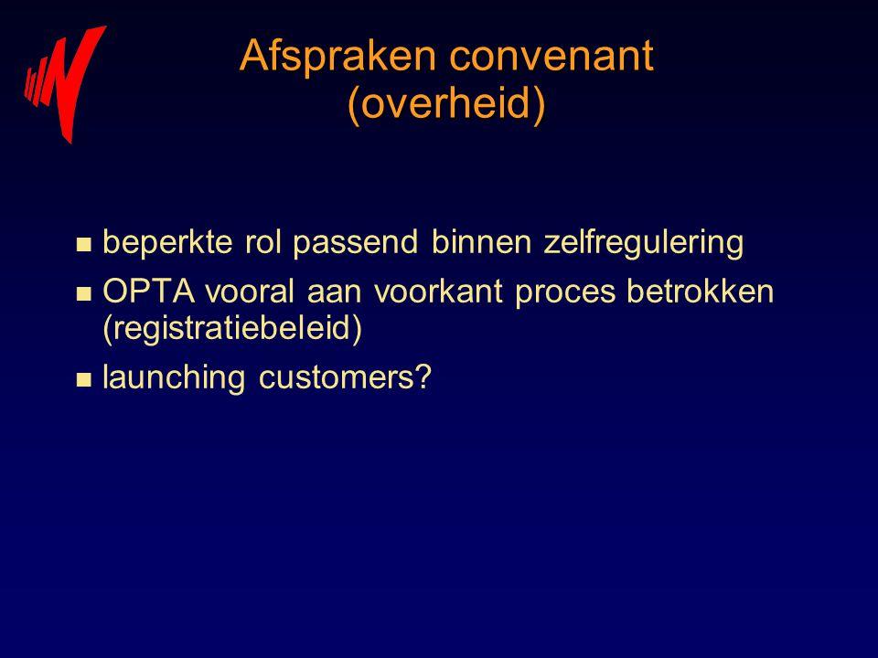 Afspraken convenant (overheid)