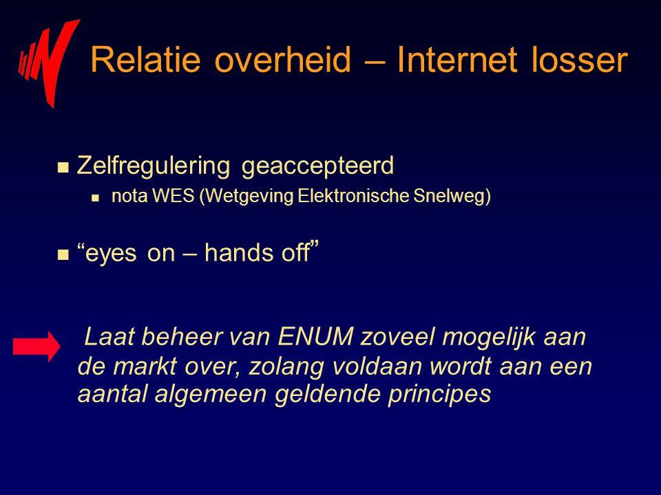 Relatie overheid – Internet losser
