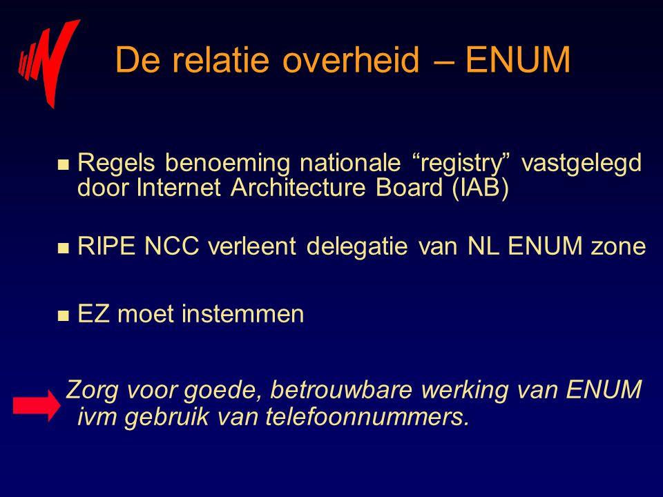 De relatie overheid – ENUM