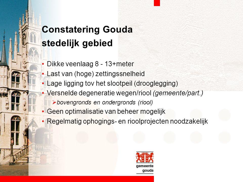 Constatering Gouda stedelijk gebied Dikke veenlaag 8 - 13+meter