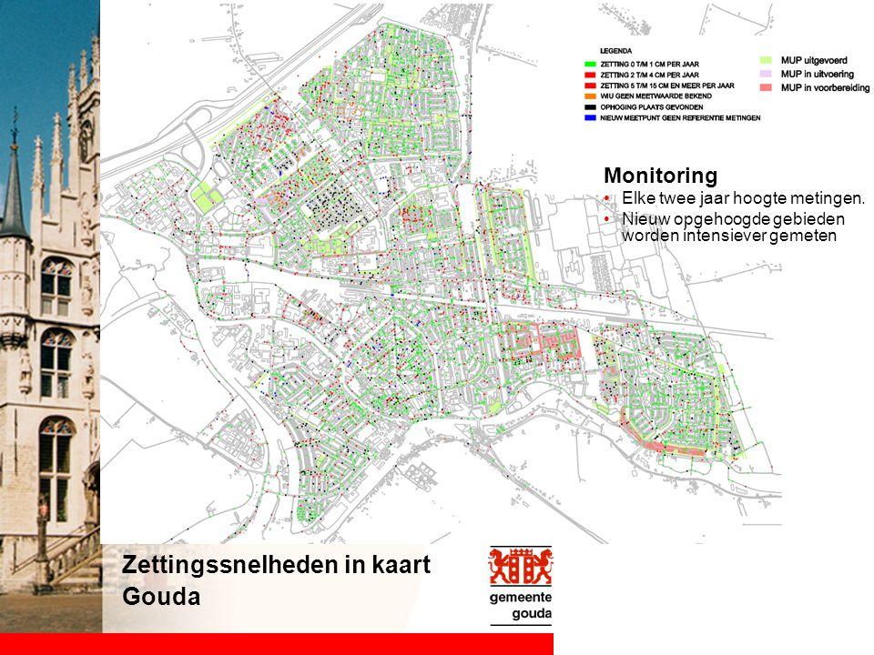 Zettingssnelheden in kaart Gouda