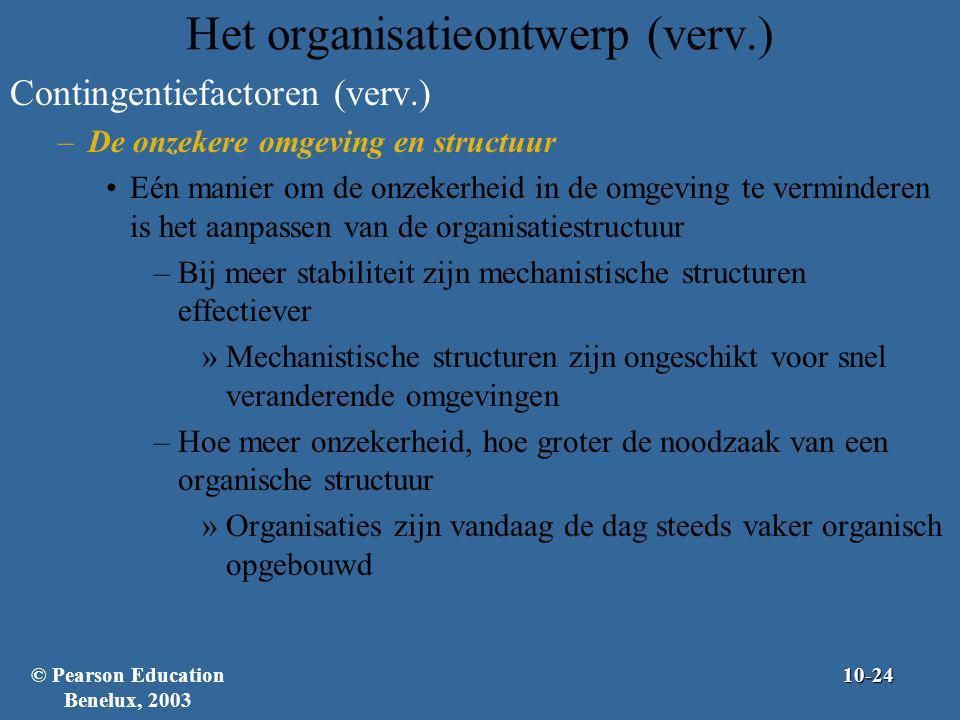 Het organisatieontwerp (verv.)