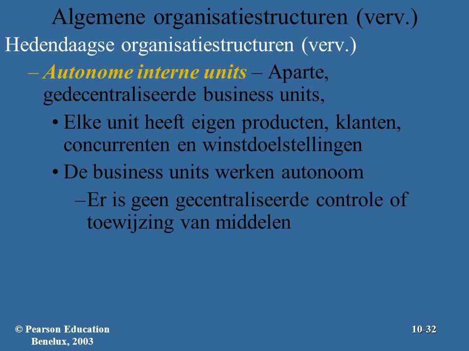 Algemene organisatiestructuren (verv.)