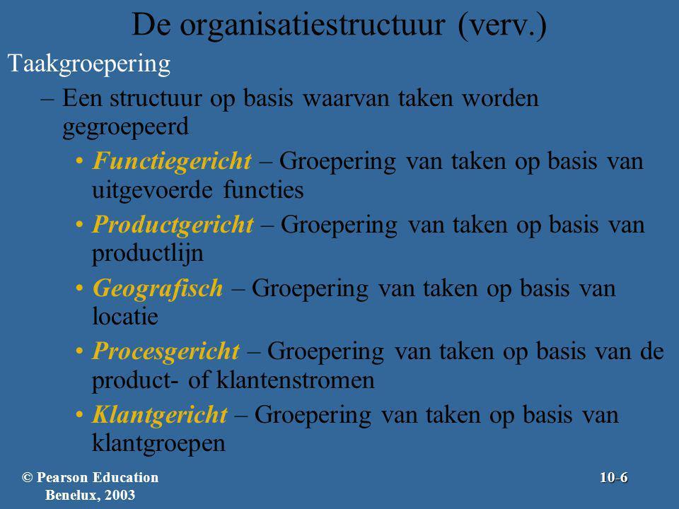De organisatiestructuur (verv.)