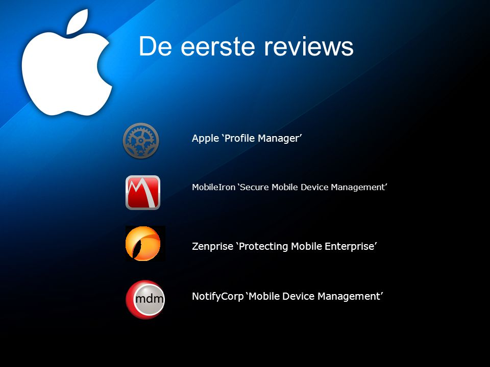 De eerste reviews Apple 'Profile Manager'