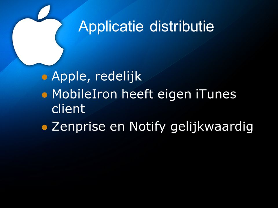 Applicatie distributie