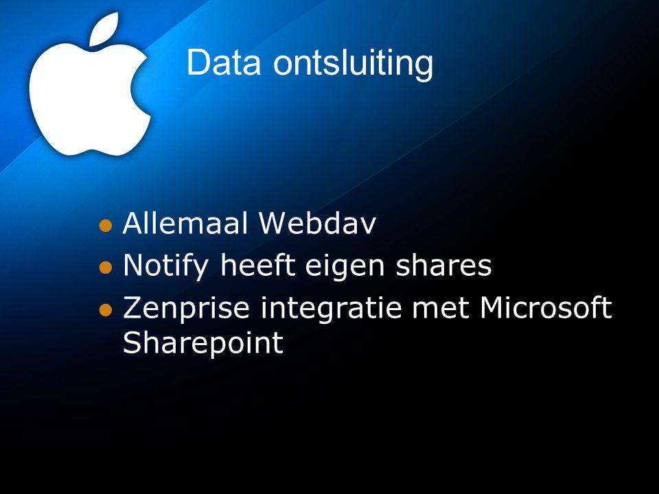 Data ontsluiting Allemaal Webdav Notify heeft eigen shares