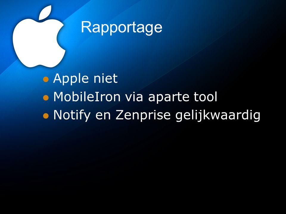 Rapportage Apple niet MobileIron via aparte tool