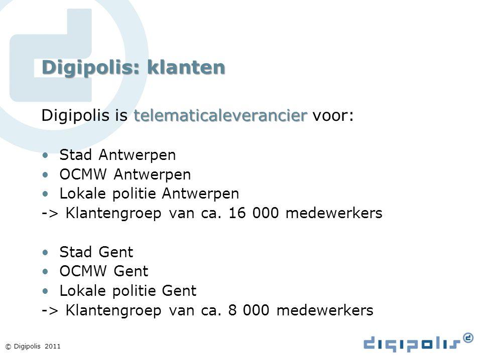 Digipolis: klanten Digipolis is telematicaleverancier voor: