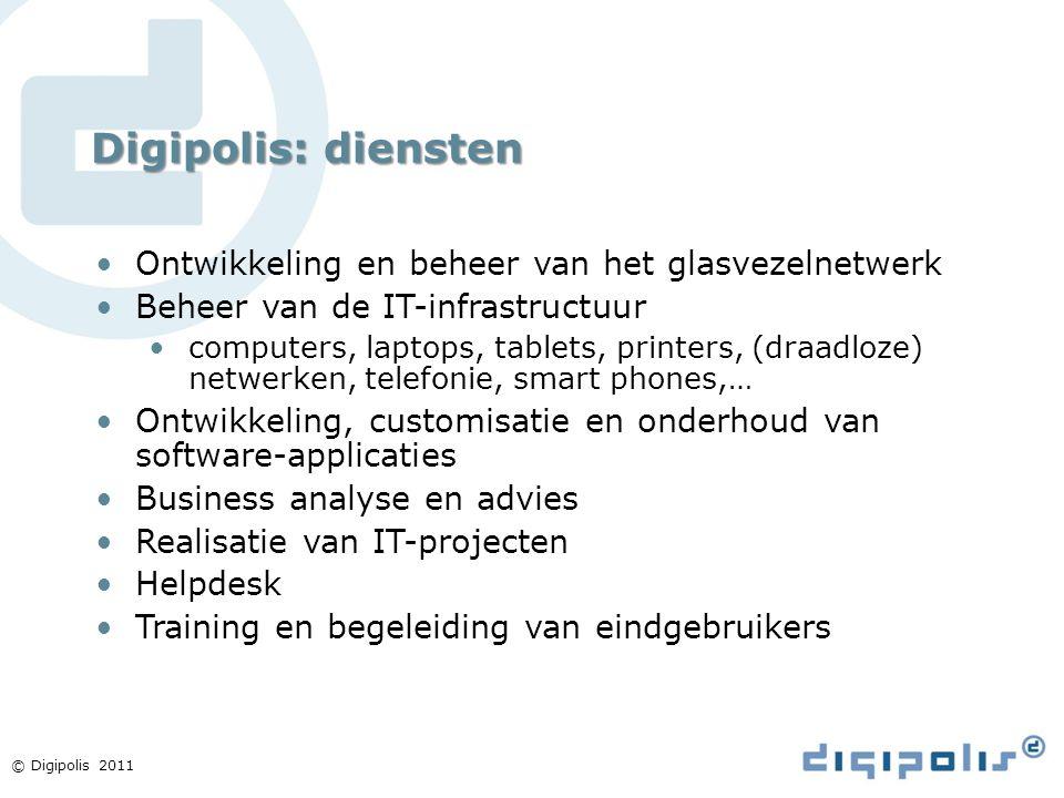 Digipolis: diensten Ontwikkeling en beheer van het glasvezelnetwerk