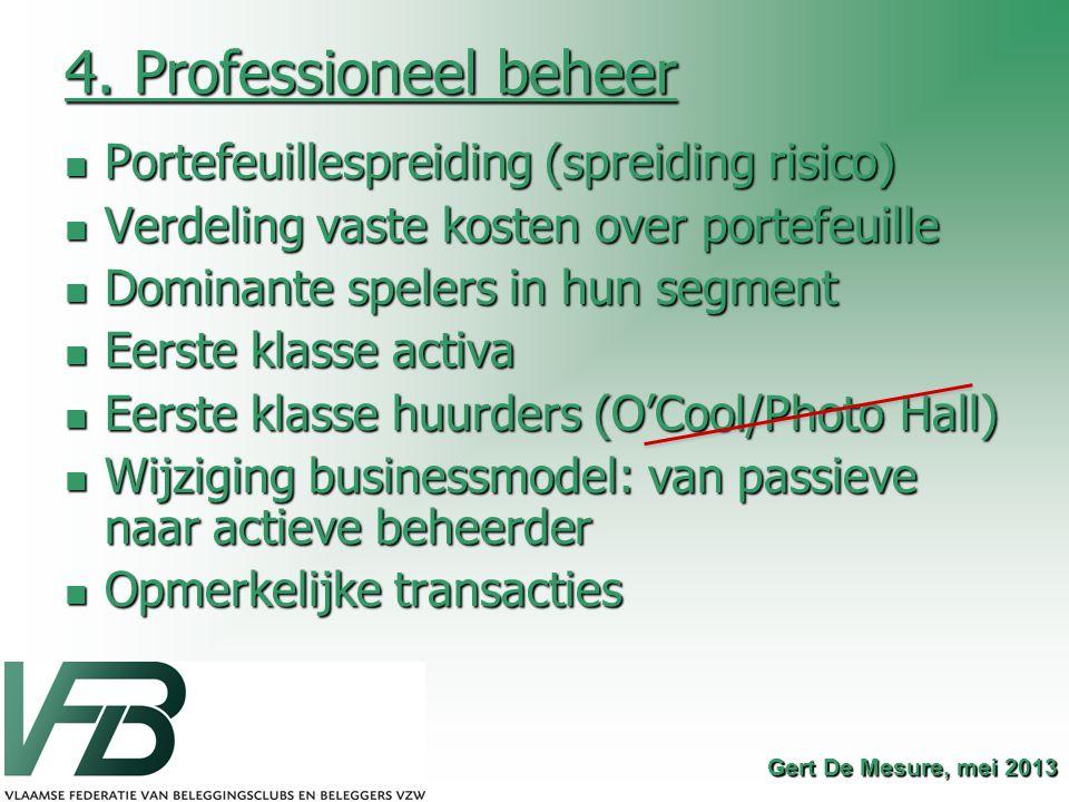 4. Professioneel beheer Portefeuillespreiding (spreiding risico)