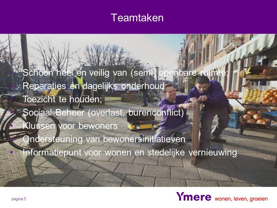 Teamtaken Schoon heel en veilig van (semi) openbare ruimte;
