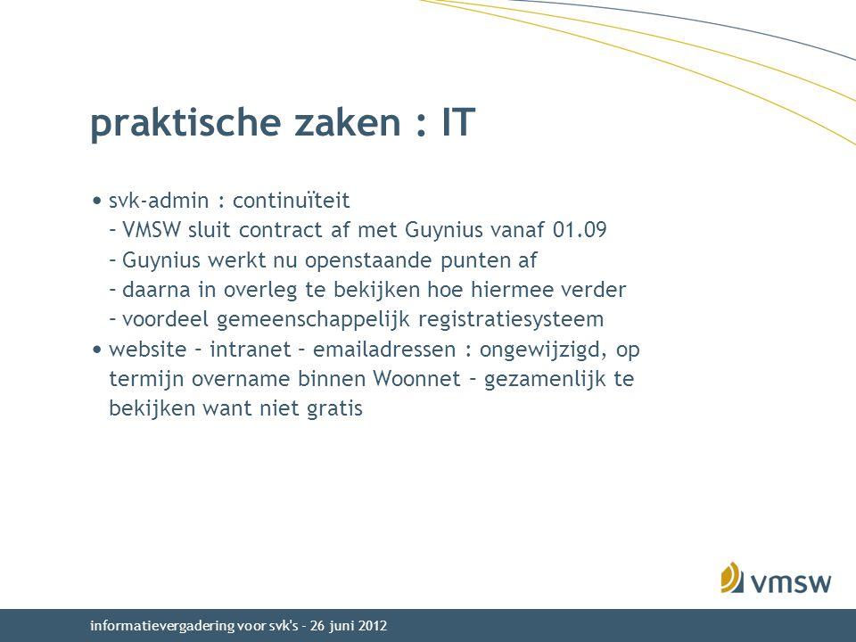 praktische zaken : IT svk-admin : continuïteit