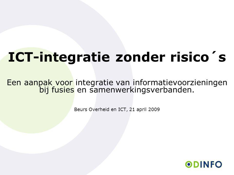 ICT-integratie zonder risico´s Een aanpak voor integratie van informatievoorzieningen bij fusies en samenwerkingsverbanden.