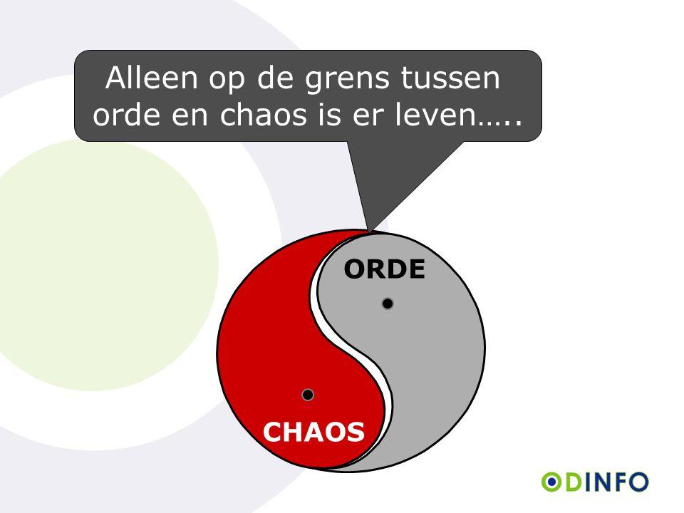 Alleen op de grens tussen orde en chaos is er leven…..