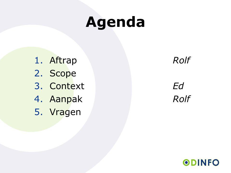 Agenda Aftrap Rolf Scope Context Ed Aanpak Rolf Vragen