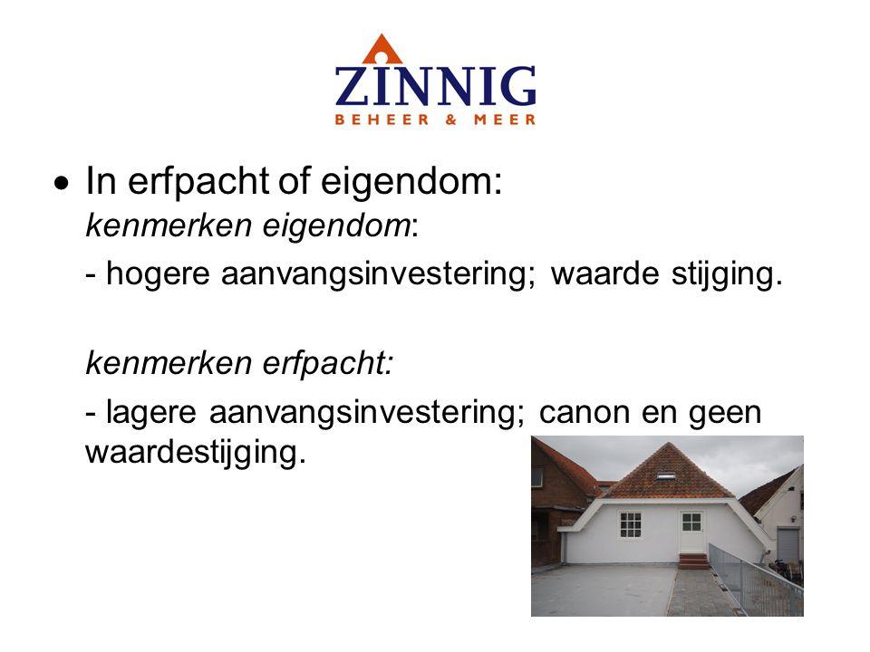In erfpacht of eigendom: kenmerken eigendom: