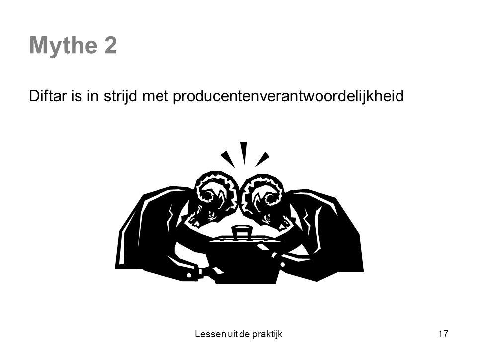 Mythe 2 Diftar is in strijd met producentenverantwoordelijkheid