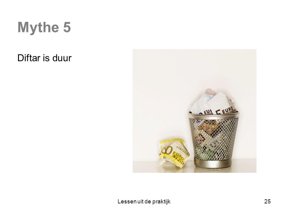 Mythe 5 Diftar is duur Lessen uit de praktijk