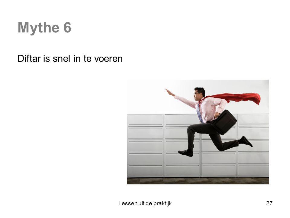 Mythe 6 Diftar is snel in te voeren Lessen uit de praktijk