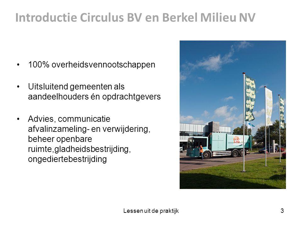 Introductie Circulus BV en Berkel Milieu NV